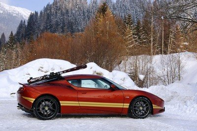 Lotus Evora caught filming in the French Alps for a Lotus/James Bond tribute video
