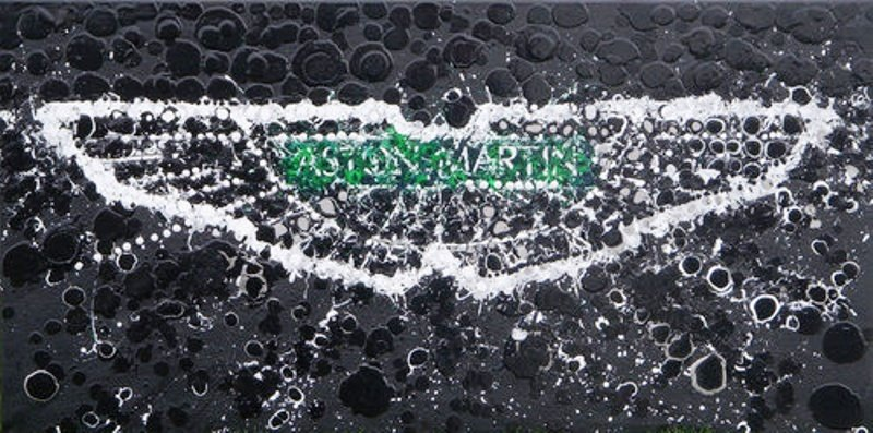 Artist creates artistic interpretation of Aston Martin logo