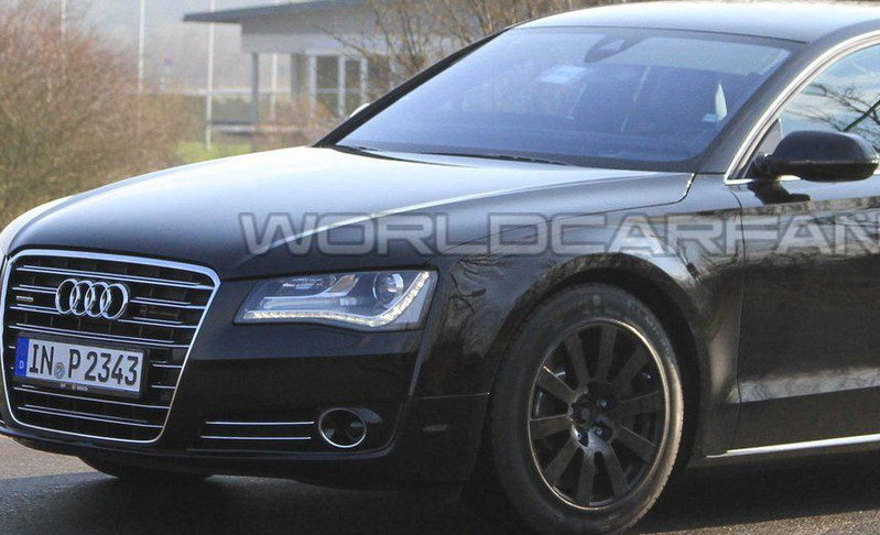 2012 Audi S8 caught testing at Nurburgring