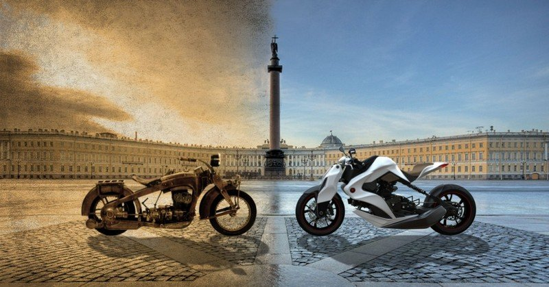 hybrid motorcycle concept