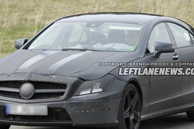 2012 Mercedes CLS 63 AMG spied testing