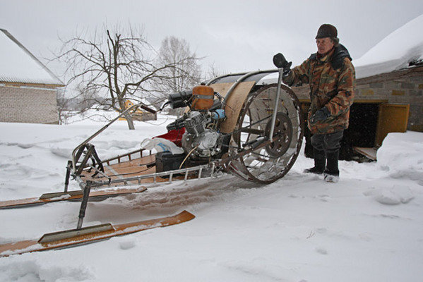 Homemade Snowmobile From Russia Picture 357992