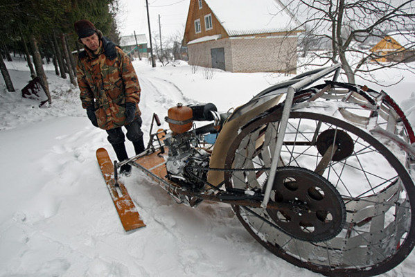 Homemade Snowmobile From Russia Picture 357993