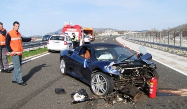 nephew of split mayor crashes ferrari 430 spyder picture