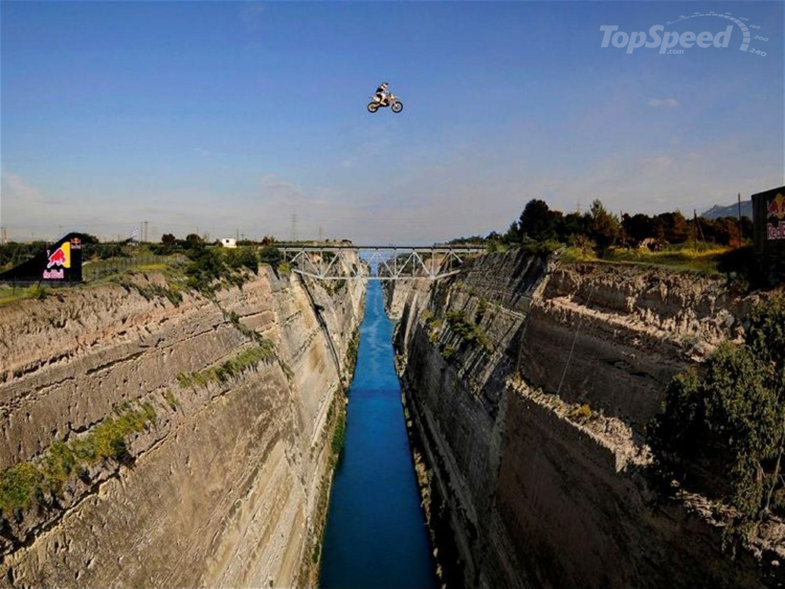 Robbie Maddison Jumps Over Corinth Canal In Greece, Sets ...