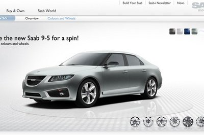 Saab releases online configurator for 2010 9-5 sedan
