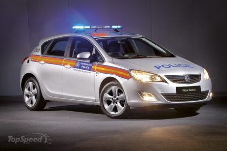 Vauxhall Astra Van Modified. 2010 Vauxhall Astra Police Car