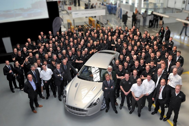 Aston Rapide Sports saloon number one gets factory send-off