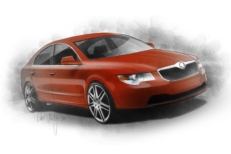 Czech designer renders what a Skoda four-door coupe could look like