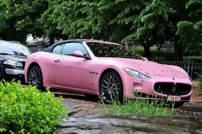 How about a pink Maserati GranCabrio?