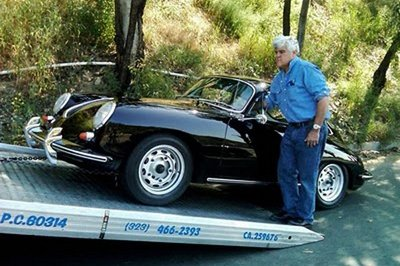 Jay Leno's 1963 Porsche 356 gets towed due to a fuel pump malfunction