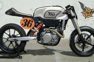 KTM 530 EXC café racer project by Roland Sands