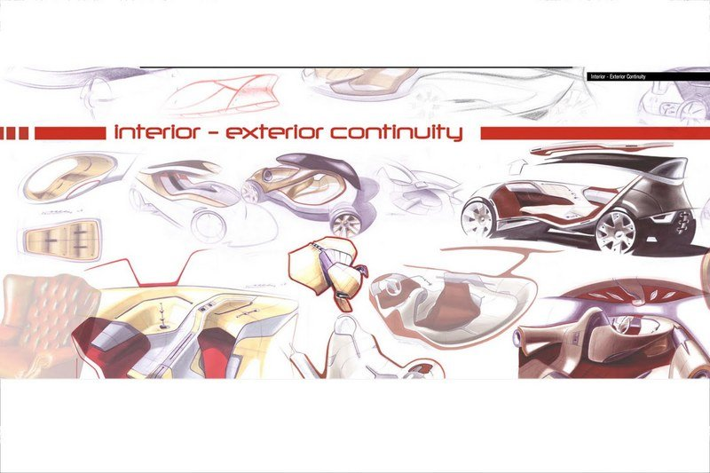 Lancia concept designs featuring the possible successor to the Ypsilon supermini
