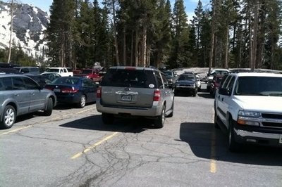 Parking FAIL: Douchebag SUV owner parks Expedition in four parking spaces