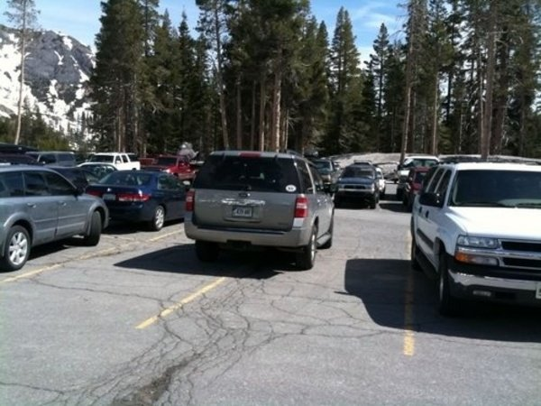 parking fail douchebag suv owner parks expedition in four parking spaces - DOC362076