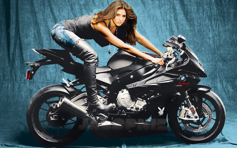 The sexiest BMW S1000RR owner ever! wallpaper image