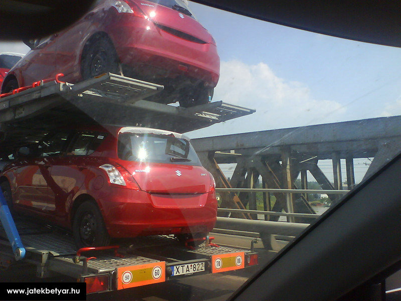2011 Suzuki Swift spotted undisguised in Hungary