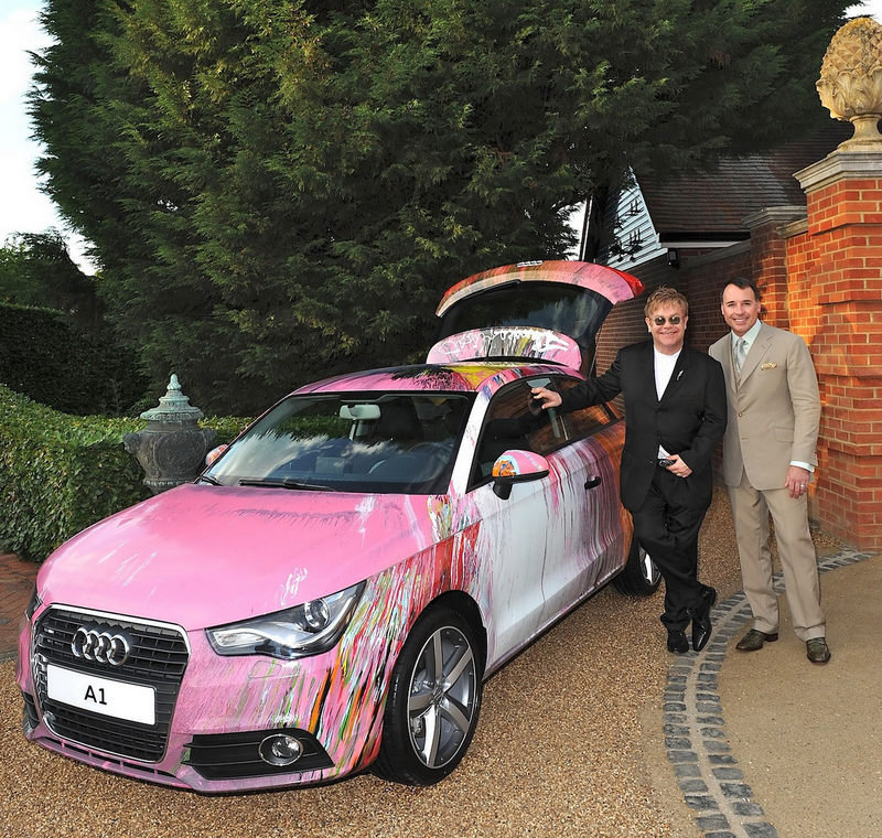 Audi A1 Art Car to be prominently featured at Elton John's Charity Ball