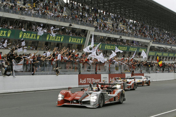 audi sweeps podium at the 24 hours of le mans picture