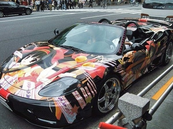 Ferrari 360 Gets Completely Wrapped In Anime And Manga