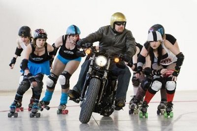 Harley-Davidson Forty-Eight goes against the women of roller derby [w/video]