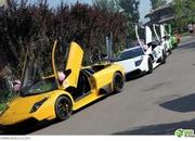 Auto entourage in wedding features 12 Lamborghinis and two Rolls Royce Phantoms - image 367224