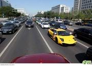 Auto entourage in wedding features 12 Lamborghinis and two Rolls Royce Phantoms - image 367226