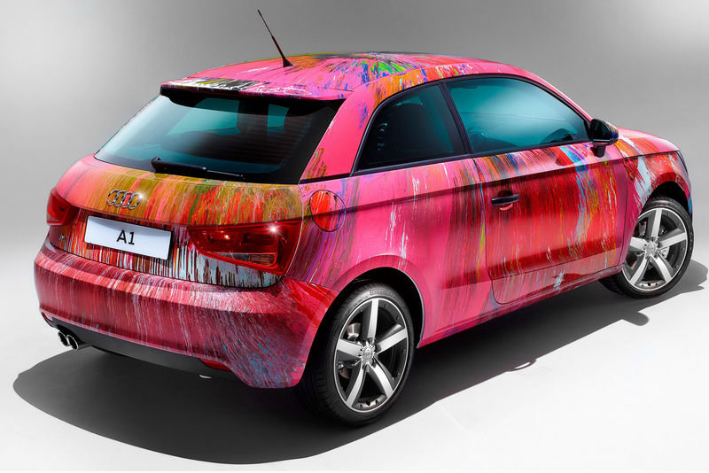 Pink Audi A1 Art Car sells for $525,000 at Elton John's auction