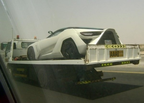 stile bertone mantide spotted on the back of tow truck in dubai picture