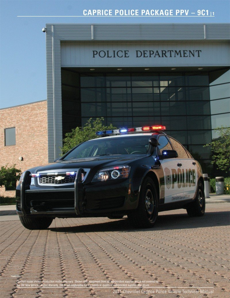 2011 Chevrolet Caprice Police PPV Detective Package