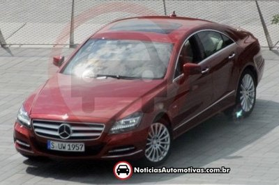 2011 Mercedes CLS caught undisguised