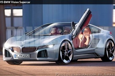 2015 BMW Vision Supercar rendered