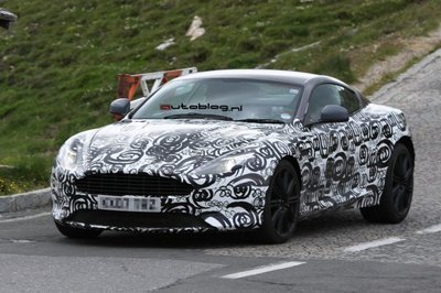 Aston Martin DBS facelift spied testing