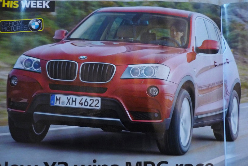 First images of the 2011 BMW X3