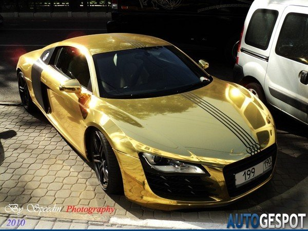 Golden Audi R8 News