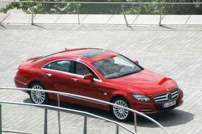 Mercedes CLS spied at official photo shoot