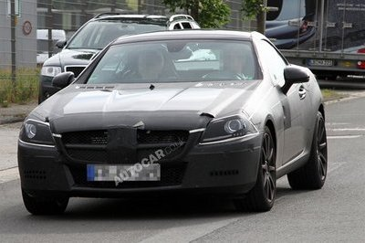 New Mercedes SLK AMG caught testing