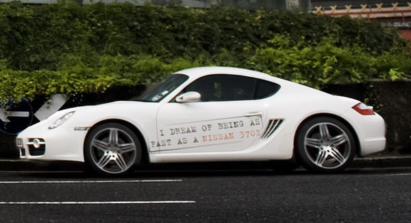 nissan 8217 s 370z pokes fun at the audi tt and porsche cayman picture