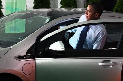 The President meets the Chevrolet Volt
