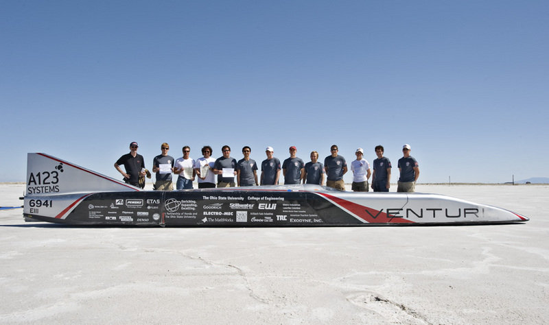 The electric Buckeye Bullet from Ohio State breaks the world speed record...again