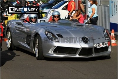 Mercedes McLaren SLR Stirling Moss takes a lap on the Nurburgring
