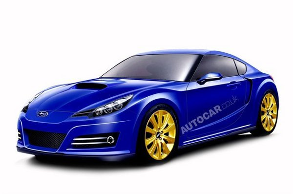 subaru ft-86 sports car rendered picture