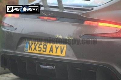 Aston Martin One-77 test mule spotted at Nurburgring