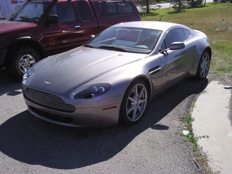 Aston Martin Vantage being sold at auto garage sale for $75,000