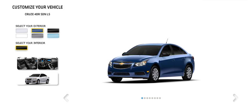Chevrolet releases online configurator for the Cruze