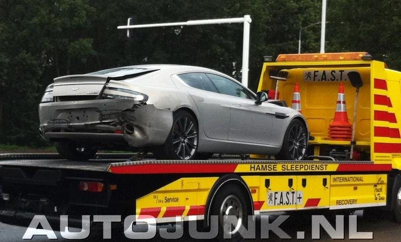 First Aston Martin Rapide crashed