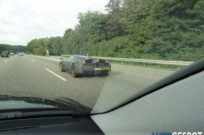 Pagani 'C9' spotted testing its air brakes in Germany