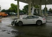 Porsche 911 GT3 RS crashes at gas station in the UK - image 374441