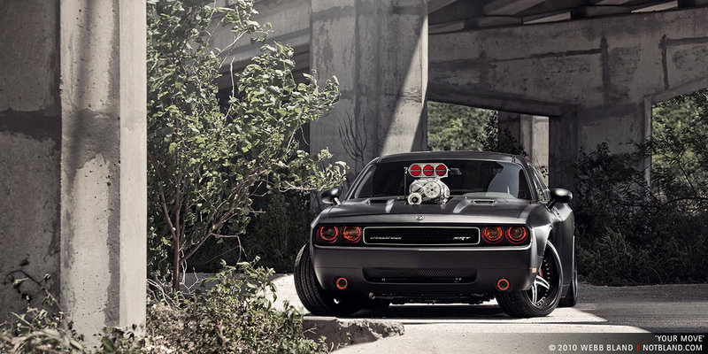 2009 Dodge Challenger SRT8 by CULT Energy Drink wallpaper image