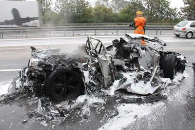 Audi R8 GT completely toasted